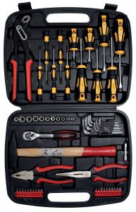 Serie chiavi a bussola e utensili assortiti in valigetta BGS 2037