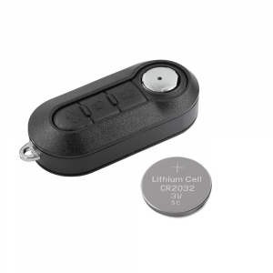 Guscio Lama e Batteria CR2032 Per Telecomando 3 Tasti Per Autovetture Fiat 500