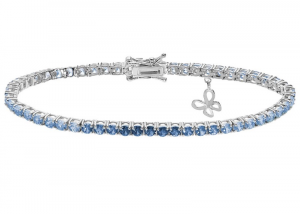 Comete Bracciale Farfalle, Tennis cristalli degradè bianchi - azzurri