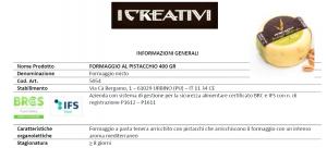 Formaggio Caciottina al Pistacchio - 400gr