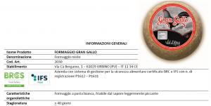 Formaggio misto Stagionato Gran Gallo - 350/700/1400gr