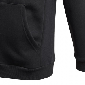 Felpa adidas bambino  - Must Haves Fleece Full Zip -  Nero Bianco GE0644