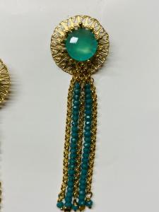 Orecchini chandelier in ottone
