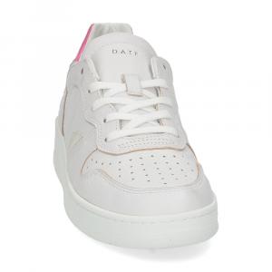 D.A.T.E. Court leather white fuxia-3