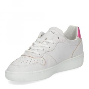 D.A.T.E. Court leather white fuxia-4