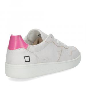 D.A.T.E. Court leather white fuxia-5