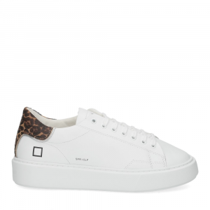D.A.T.E. Sfera calf white leopard-2