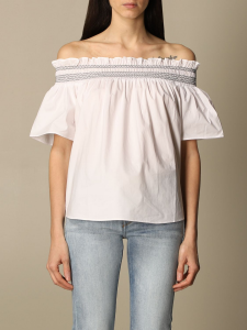 SHOPPING ON LINE PINKO BLUSA IN COTONE ISTRUITO NEW COLLECTION WOMEN'S SPRING SUMMER 2021