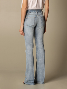 SHOPPING ON LINE PINKO JEANS VITA ALTA CON CINTURA E FIBIA LOGATA IN METALLO FELIZ 2 NEW COLLECTION WOMEN'S SPRING SUMMER 2021