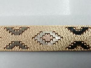 Bracciale mosaico in oro 18kt tre colori