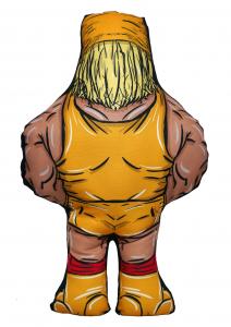*PREORDER* I BEGNAMINI Cuscini da Collezione - Wrestling Superstars: HULK HOGAN (stampa Fronte/Retro)