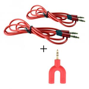 Splitter Audio Sdoppiatore Cuffie Stereo Per Smartphone PC + Cavo Gommato (2PZ)