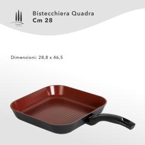 BISTECCHIERA ANTIADERENTE NATURALE CM 28 LINEA TUSCANY CLASSE ITALY