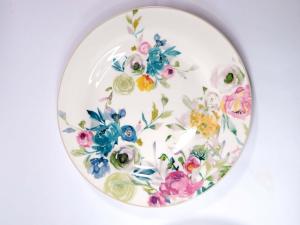 Servizio piatti 18 pezzi con fiori Paradise
