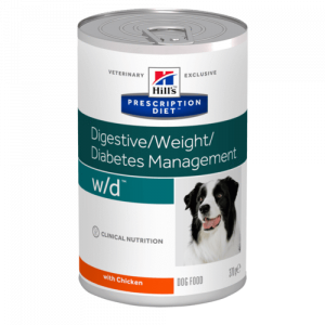 Hill's - Prescription Diet Canine - w/d - 370g x 12 lattine