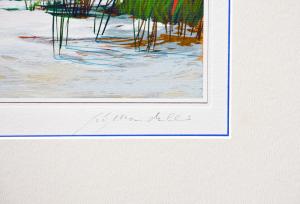 Mondelli Giò Composizione 4 Serigrafia e Litografia Form. cm 33x76