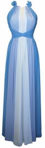 Abito cerimonia donna lungo azzurro.