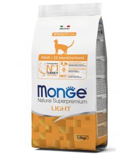 Monge Cat - Natural Superpremium - Light - Tacchino - 1.5 kg x 2 sacchi