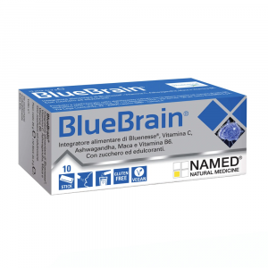 BLUE BRAIN INTEGRATORE NAMED A BASE DI MACA, ASHWAGANDHA UTILE COME TONICO