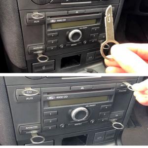 Cavo Aux Adattatore Jack Maschio 3,5mm Autoradio Ford Dal 2005 + Kit Estrazione