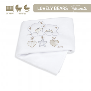 Copertina in Pile per Culla linea Lovely Bears by Italbaby
