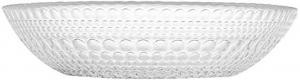 Piatto fondo in vetro trasparente