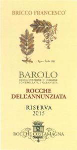 BAROLO DOCG ROCCHE DELL'ANNUNZIATA RISERVA 2015