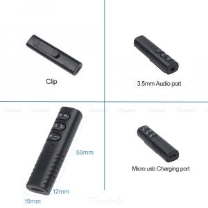 Ricevitore Bluetooth Senza Fili Vivavoce Smart Tv Musica Audio Aux Jack 3.5mm