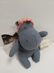 Mini ippopotamo in lino di Bukowski 16 cm