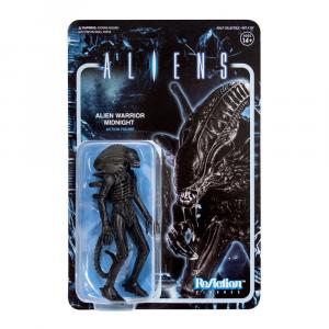 Aliens ReAction Action Figure: ALIEN WARRIOR Midnight Black by Super 7