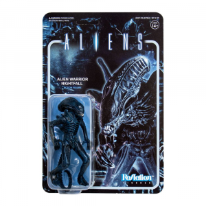 Aliens ReAction Action Figure: ALIEN WARRIOR Nightfall Blue by Super 7