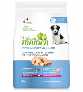 Trainer Natural - Medium - Puppy&Junior - 12 kg x 3 sacchi