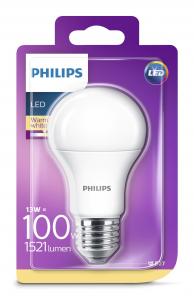 Philips Lampadina non regolabile, luce bianca calda, 13 W (100 W), E27