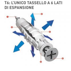 TASSELLI T6 ELEMATIC UNIVERSALI CON VITI IN SCATOLA DA 100PZ