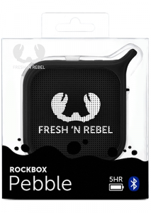 Fresh 'n Rebel Rockbox Pebble 1RB0500BL - Altoparlante portatile Bluetooth splashproof, nero