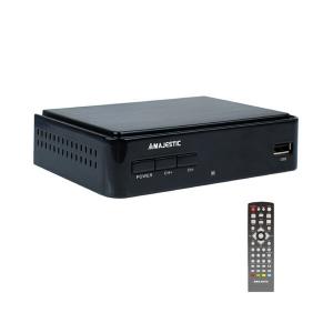New Majestic DEC-664 HD USB REC set-top box TV Terrestre Nero
