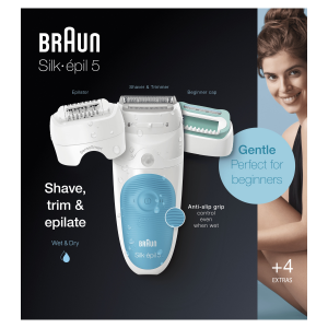 Braun Silk-épil 5 Wet&Dry Silk-épil 5-610, Epilatore Elettrico Donna Per I Primi Utilizzi