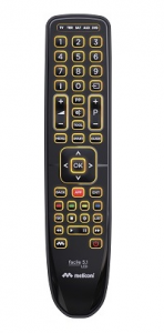 Meliconi Facile 5.1 LED telecomando IR Wireless DTT,DVD/Blu-ray,SAT,TV Pulsanti