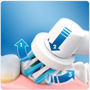 Oral-B PRO 700 Adulto Spazzolino rotante-oscillante Blu, Bianco