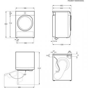 Electrolux EW9H297DY Libera installazione Caricamento frontale Bianco 9 kg A+++