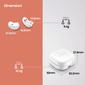 Samsung Galaxy Buds Live, Mystic White Cuffia Auricolare Bianco