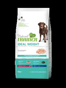 Trainer Natural - Medium&Maxi - Ideal Weight - Carni Bianche - 12 kg x 3 sacchi