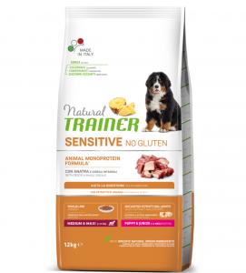 Trainer Natural Sensitive - Medium/Maxi - Puppy&Junior - 12 kg x 3 sacchi