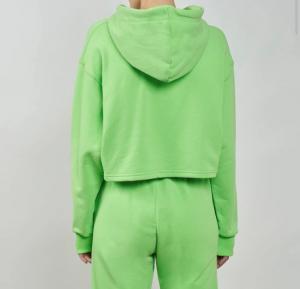 Felpa corta verde chiara ferragni