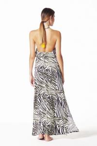 4Giveness Abito Lungo Luxury Zebra.