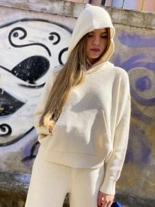 Pull Vicolo in maglia leggera con cappuccio