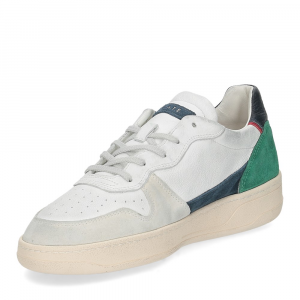 D.A.T.E. Court 2.0 vintage calf white blue-4