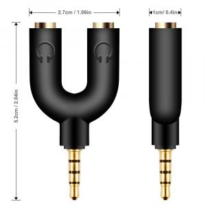 Splitter Audio Sdoppiatore Cuffie 2 Jack Femm 1 Jack Maschio Smartphone PC (2PZ)