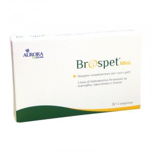 BROSPET MINI (20 CPR) - FAVORISCE IL DRENAGGIO DEI LIQUIDI INTESTINALI- AURORA BIOFARMA