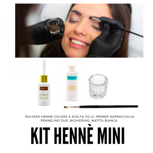 Kit hennè mini Henne BrowLine Dlux